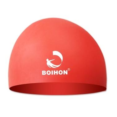 Hohe elastische Silikon-Badekappe-wasserdichte bequeme Haar-Sorgfalt-Schutz-Ohr-ultra Ausdehnungs-Schwimmen-Hut