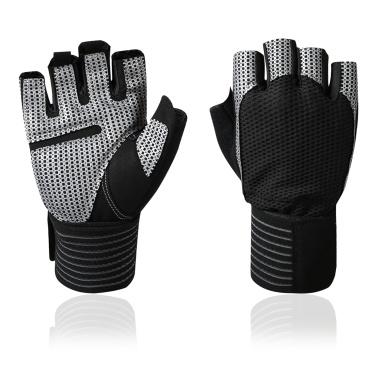 Full Wrist Protection Fitness Gloves Half Finger Sports Gloves Breathable Short Finger Gloves Tear-resistant Cycling Gloves