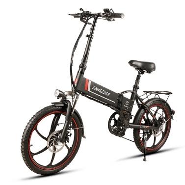 Samebike 20LVXD30 20 Polegada Dobrável Bicicleta Elétrica Poder Assist Bicicleta Elétrica