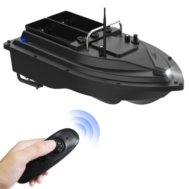 Wireless Remote Control Fishing Bait Boat with Double Bait Containers Fish Feeder Device with 400-500m Remote Range