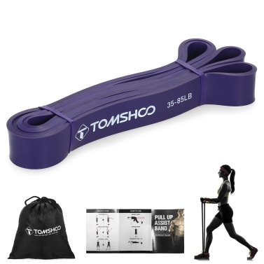 TOMSHOO Pull Up Assist Band Resistance Loop Band Powerlifting Workout Exercise Stretch Bands with Carry Bag
