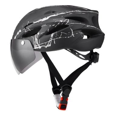TOMSHOO Bike Helmet with Goggles,MTB Helmet Riding helmet Cycling Helmet