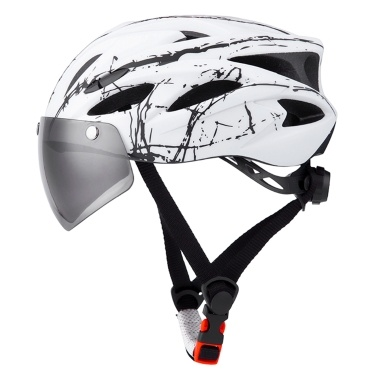 TOMSHOO Bike Helmet with Goggles,MTB Helmet Riding helmet Cycling Helmet