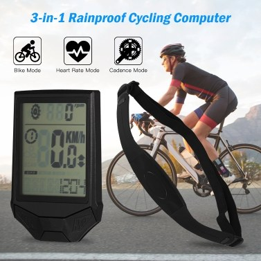 Cycling Wireless Computer with Heart Rate Sensor