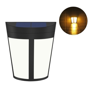 Solar Powered Energy 6 LEDs Wall Light Wall-Mounted Outdoor Lamp Sensitive Light Control IP65 Water Resiatance Built-in 1000mAh High Capacity Rechargeable Batterys for Home Yard Patio Pathway