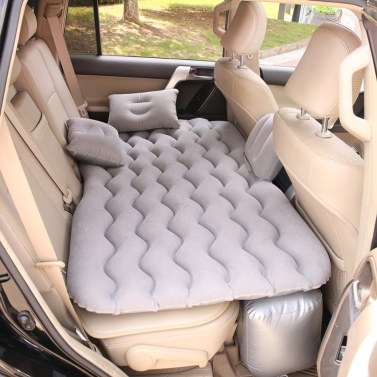 Car Inflatable Bed Air Mattress Universal Car Seat Bed Outdoor Camping Sleeping Pad Cushion Mat with 2 Air Pillows