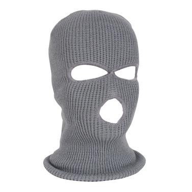 3-Hole Knitted Full Face Mask Men Women Ski Mask Warm Full Face Cover