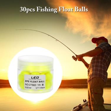 30pcs Bean Shape EPS Fishing Foam Float Ball Globular Buoy Outdoor Sea Fishing Accessory