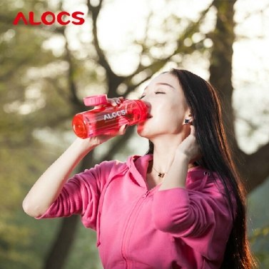 500ml ALCOS WS-B05 Outdoor Portable Translucent BPA Free Tritan Sports Water Bottle