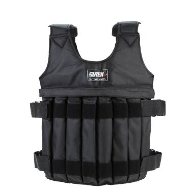 Max carregando 20kg ajustável colete ponderada peso jaqueta exercício boxe treinamento colete roupa invisível Weightloading areia (vazio)