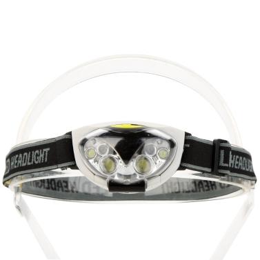 6 luzes LED luz solar à prova de água farol dianteiro