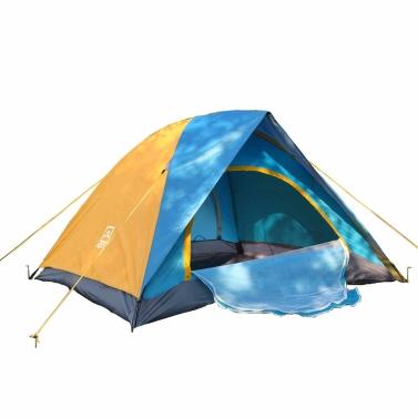 Lixada 2 Personen Doppel Schichten Regendicht Camping Zelt mit Tasche