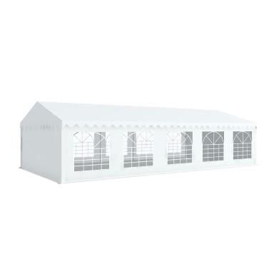 Tente de réception 5x10m tubes 38mm bâche PVC 480g/m2 blanc ignifugée M2