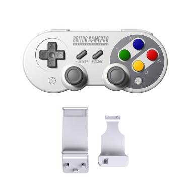 8Bitdo SF30Pro Wireless Game-controller + X Mecha Stretch-Fix Game Handle Holder Set