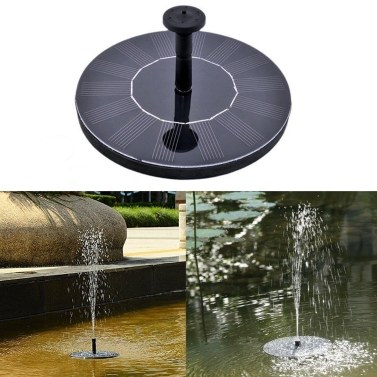 33% OFF Solar Power Fountain Pool Floating Water Pump,limited offer $10.99