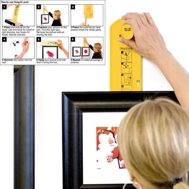 Photo Hang Level Make Picture Hanging Easy Picture Frame Hanger Tool Home Decor