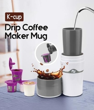 28% OFF 400ml Portable Travel Outdoor Mug Ice Drip Coffee Maker,limited offer $16.99