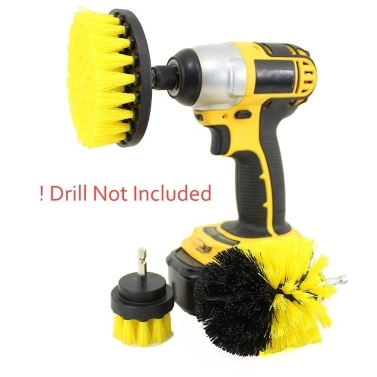 3pcs Drill Brush Set Cleaning Brush Tool Kit