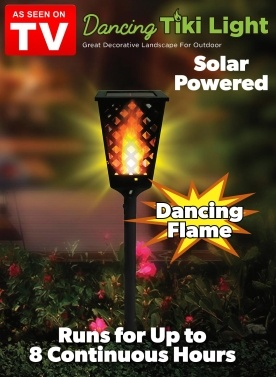69% OFF Waterproof Dancing Flame Solar Light,limited offer $13.39
