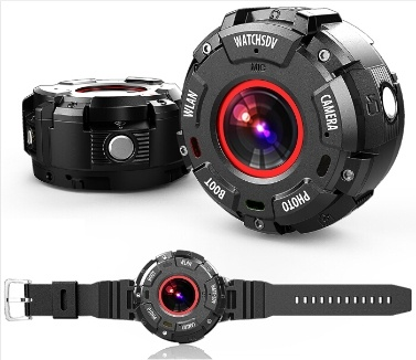 Smart Wearable Kamera Watch Style Outdoor Sportuhr Kamera mit WIFI Funktion IP68 Wasserdicht