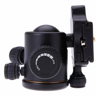 QZSD Q02 Aluminum Camera Tripod Ball Head Ballhead Quick Release Plate DSLR Camera Tripod