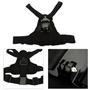 Andoer Adjustable Elastic Body Harness Chest Strap Mount Band Belt Accessory Sport Camera GoPro Hero 4/3+/3/2/1 SJCAM