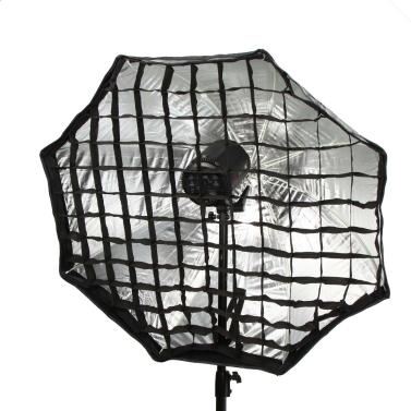 95cm/37,4 en octogone parapluie Softbox Parapluie réflecteur tente Studio photographie avec support de fibre de carbone de grille en nid d