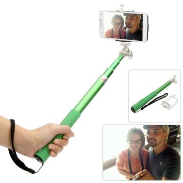 Firmcam FC 408 Teleskop Erweiterbar Selfie Selbstauslöser Drehbare Pole Grip Stick-Einbeinstativ Handheld mit einstellbarer Handyhalter iPhone Samsung Sony Smartphones