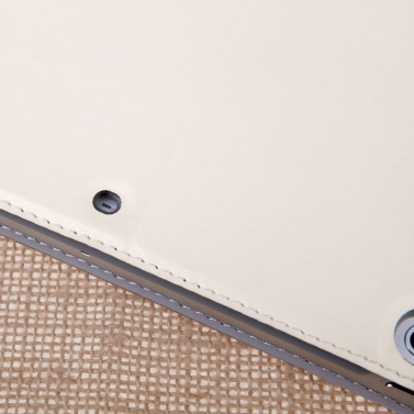 dodocool 360 Grad rotierende PU Leder Swivel Flip Stand Case Cover schützende Schale für iPad Air Beige