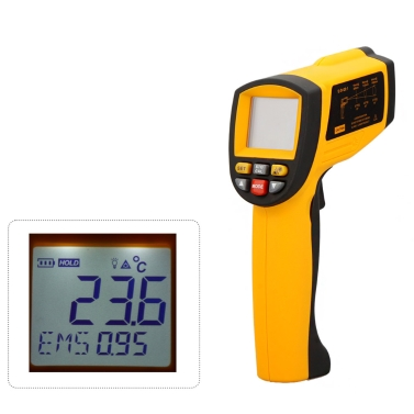 GM1150 Non-Contact 20:1 Digital Infrared IR Thermometer Laser Temperature Gun Tester Range -50~1150u2103 (-58~2102u2109) LCD Backlight