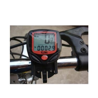 Sunding SD-548B verdrahtet, dass Bike Fahrrad Zyklus Computer Tacho Tachometer LCD wasserdicht 14 Funktionen
