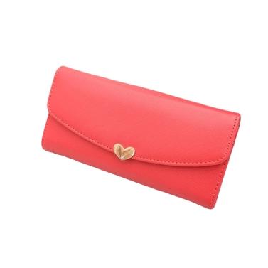 New Fashion Cute Women Girl PU Purse Candy Color Wallet Clutch Bag Watermelon Red