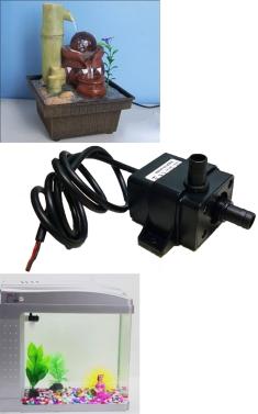 Ultra-quiet Mini DC12V Micro Brushless Water Oil Pump Waterproof Submersible Fountain Aquarium Circulating 240L/H 5W Lift 3M 0~60℃