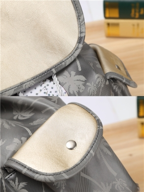 Fashion Women Candy Color Backpack PU Leather Girl Pattern Drawstring Casual Cute School Travelling Bag
