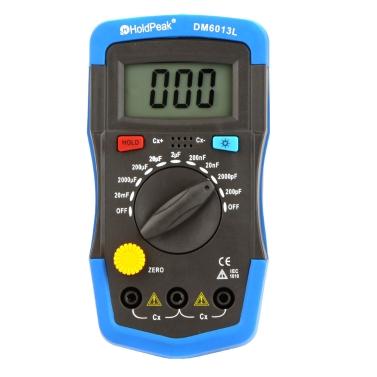 Medidor de capacitância digital portátil HoldPeak DM6013L