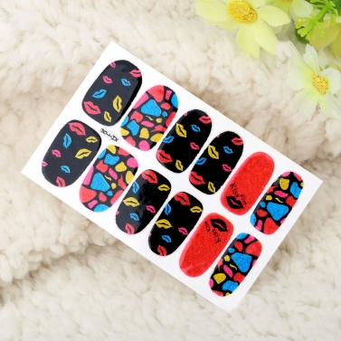 Ein Blatt Mix Style DIY Nail Art Sticker Patch Wraps Finger Tipps Dekoration