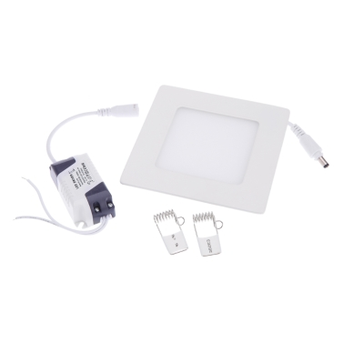 6W Square LED Recessed Ceiling Panel Light Down Lamp Ultra Thin Bright for Living Room Bathroom Bedroom Kitchen AC85-265V