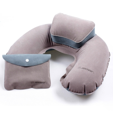 Air Pillow Inflatable U Shape Neck Blow Cushion PVC Flocking Camping Travel Outdoor Office Plane Hotel Portable Folding