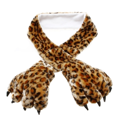 Weiche warme flauschige Plüsch Cartoon Bear Paw Scarf Handschuh