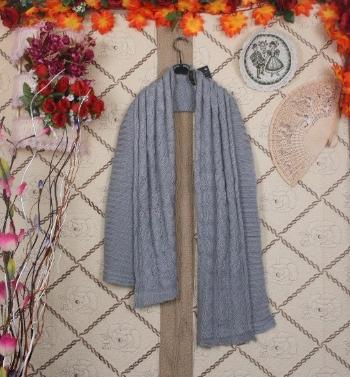 Koreanische stilvolle Frauen Männer Lady Schal gestrickt lange warme Wickel Schal Unisex grau