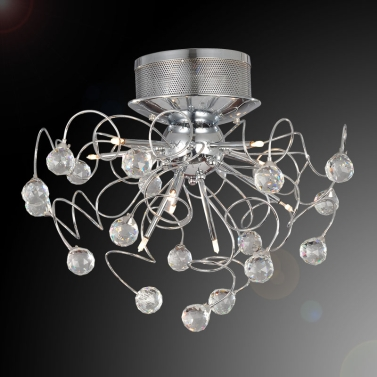 Modern Crystal Chandelier with 9-Light Lamp Ceiling Lighting Chrome 110-120V