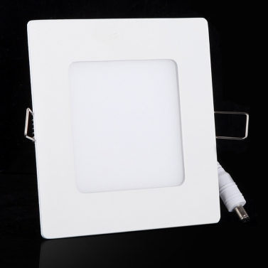 6W AC 86-265V Ultra Thin Square Ceiling Panel Light Wall Recessed Down Lamp 390LM SMD2835 LED Pure White