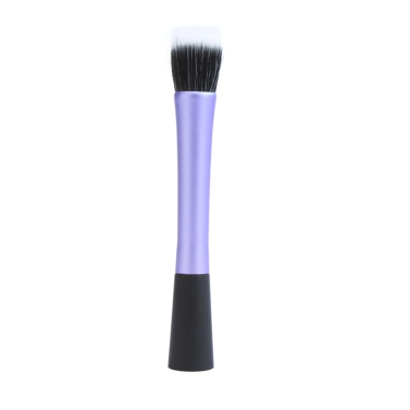 Professionelle Kosmetik Pinsel Gesicht Make-up Rouge Powder Foundation Tool Flat Top Duo Fibre lila