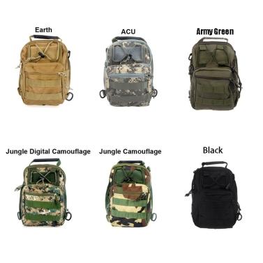 Men Women Outdoor Sport Camping Hiking Trekking Bag Military Tactical Shoulder Bag Black