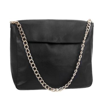 New Korean Retro Vintage Woman Lady Chain Shoulder Messenger Handbag Satchel Black