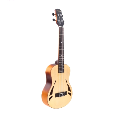 Andoer 26'' Compact Ukelele Ukulele Hawaiian Tigrina Maple Aquila Rosewood Fretboard Bridge Tenor Stringed Instrument 4 Strings Gig Bag