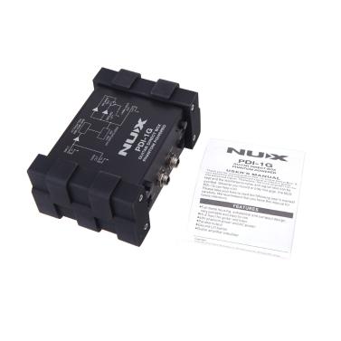 NUX PDI-1G Guitar Direct Injection Phantom Power Box Audio Mixer Para Out