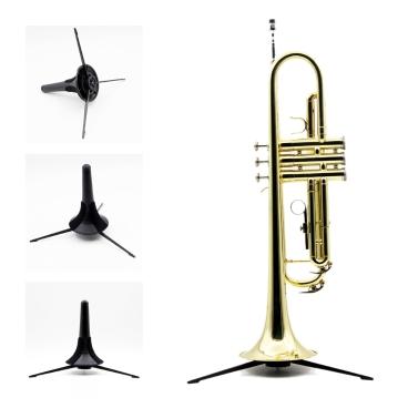 Trumpet Tripod Holder Stand Metal Leg Detachable Portable Foldable