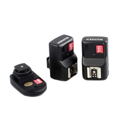 Universal 16 Channels Radio Wireless Remote Speedlite Flash Trigger 1 Transmitter & 2 Receivers