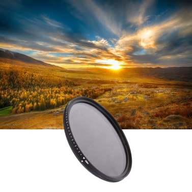 Fotga 72mm Slim Fader ND Filter Adjustable Variable Neutral Density ND2 to ND400 for Canon /Nikon 18-200 Canon 18-85